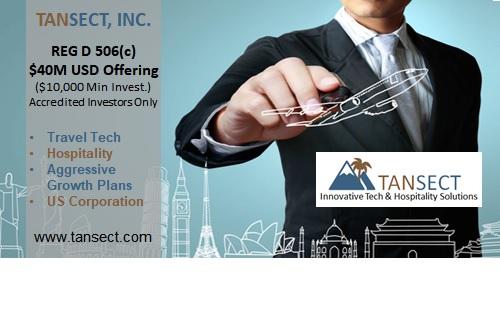 Tansect Initiates $40M Reg D Stock Sale (Common Shares Sold Under Reg D 506c)